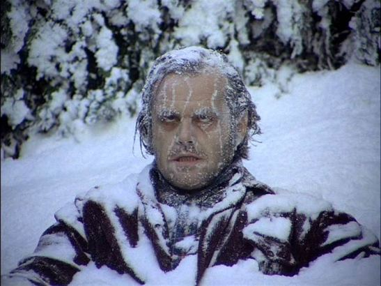 Jack, frozen; THE SHINING